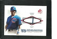 SAMMY SOSA CUBS SLUGGER 2001 SP AUTHENTIC ''UD EXCLUSIVES'' JERSEY RELIC #UD-SS