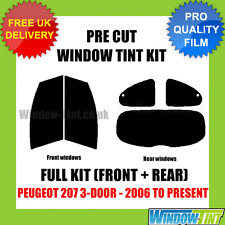 PEUGEOT 207 3-DOOR 2006-PRESENT FULL PRE CUT WINDOW TINT