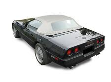 Chevy Corvette 1986-1993 Convertible Soft Top With Plastic Window White Vinyl