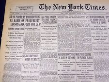 1930 MARCH 6 NEW YORK TIMES - DRYS PORTRAY PROHIBITION BASIS PROSPERITY- NT 1570