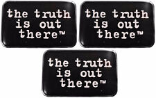 """X-Files """"The Truth Is Out There"""" Metal Enamel Costume Pin Set of 3"""