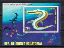 Animaux préhistoriques Guinée Equatoriale (17) bloc oblitéré