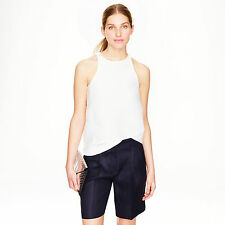 NWT J. Crew Collection Bermuda Short in Italian Linen Sz 0 Navy
