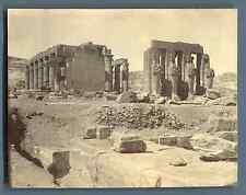 Egypte, Ramesséum   Vintage silver print. Le Ramesséum est le temple funéraire d