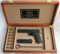 PISTOL GUN PRESENTATION DISPLAY CASE BOX for COLT m1911 government .45 acp