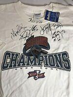 IDAHO STEELHEADS TEAM AUTOGRAPHED  T SHIRT SIZE XXL ADULT 2004 ECHL Champions
