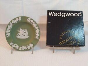 Wedgwood Jasper Ware Green Muses and Pegasus Ashtray Round England J