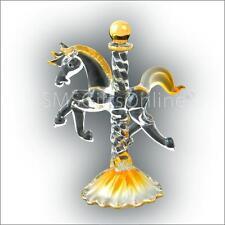 3 pollici ad alta realizzata a mano vetro topazio giallo BIRTHSTONE CAROUSEL HORSE novembre