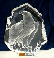 """MATS JONASSON 28% LEAD CRYSTAL SIGNATURE COLLECTION 7.5"""" EAGLE PAPERWEIGHT"""