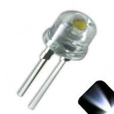 10 x LED 8mm Cool White .5 Watt Wide Angle Bright High Power LEDs 0.5w half 1/2