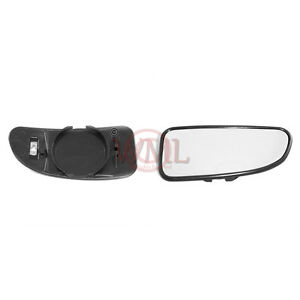 FIAT DUCATO 1998->2005 BLIND SPOT MIRROR GLASS SILVER, HEATED & BASE, RIGHT SIDE
