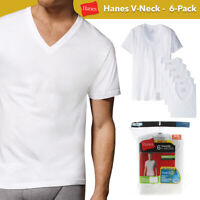 Hanes Men's 6 Pack Tagless Comfortsoft V Neck T-Shirts Undershirts