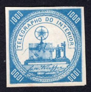 Brazil 1870 telegraph stamp Yvert#3 MH CV=150€