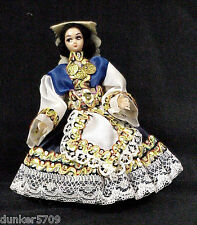 Storybook Type Greek Style Doll 4 1/2 Inch Original Outfit