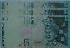 RM5 Zeti sign Paper Note X 3 pcs