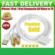 RCA Composite AV Video to TV USB Charger Cable Lead for iPod iPad 2 3 iPhone 4/S