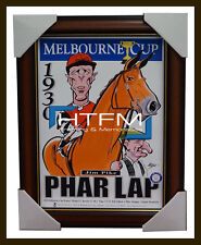 Phar Lap 1930 Melbourne Cup Champion Harv Time Limited Edition Print Framed