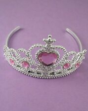 One fancy dress tiara in Pink will fit children or adults
