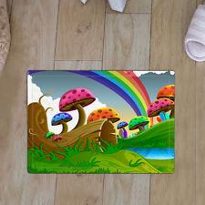 Mushroo and Rainbow Soft Anti-Slip Door Mats Kitchen Bedroom Bathroom Carpet Rug