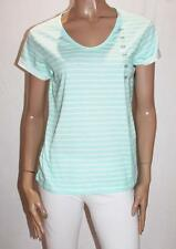 DUNNES Brand Girls Sleepwear Blue Stripe Short Sleeve Top Size 14-16 BNWT #TB119