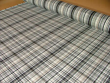 10 Metres Windsor Onyx Tartan Check Jacquard Curtain Upholstery Cushion Fabric