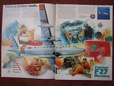 6/1982 PUB FOKKER AIRCRAFT HOLLAND F27 MARITIME PATROL AIRCRAFT SAR ORIGINAL AD
