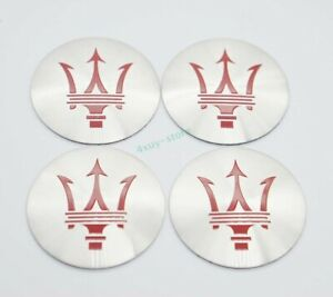 4x 56.5mm Car Accessories Wheel Center Covers Hub Caps For Maserati Logo Decal