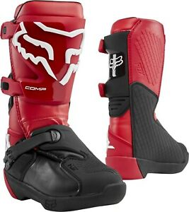 Fox Comp Kids Motocross MX Offroad Race Boots Flame Red Youth