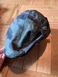 NWT Baby Boys Gap Navy Green Camo Driving Hat Size S/M New! Newsie Cap 2/3yo