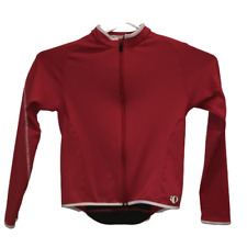Pearl Izumi Womens Medium Red Black Full Zip Front Cycling Long Sleeve Jersey M