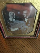 Sixth plate daguerreotype old couple 1/6th Full Case Fast Shipping Look