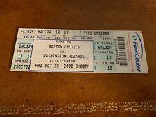 2002 Boston Celtics v Washington Wizards Full Basketball Ticket Michael Jordan
