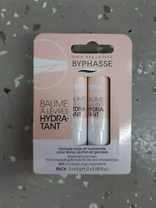 1 Pack of 2 Byphasse Moisturizing Lip Balm 4.8g EA - NEW