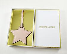 Michael Kors Monogram Bag Charms Key Fob Heart leather Star Pink