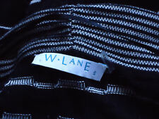 W.LANE SoftMonotoneStripedLtWtCottonBlendSizeS as NEW