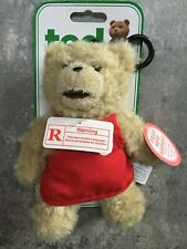 Ted The Movie Talking Keychain Plush Trash Talking Bear Ted With Apron NEW NSFW
