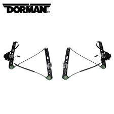 For BMW E46 330i Pair Set of 2 Front Power Window Regulators w/ Motor Dorman