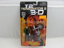 Terminator 2 3-D JOHN CONNOR w/Motorcycle Action Figure NEW 1997 Kenner