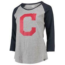 MLB Cleveland Indians 47 Club Raglan T Shirt Top Womens
