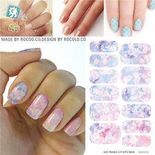 K5711B Water Transfer Foil Nails Sticker Pink Flower Design