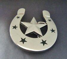 Horseshoe Belt Buckle Lucky Horseshoes Stars Western Cowboy Boucle de Ceintures