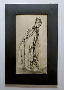 "Jeane Antoine Watteau ""Study of a Woman Standing"" Photogravure"