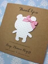 Personalised Thank You For A Beautiful Granddaughter card Teddy Pink