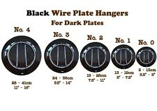 Black Wall Display Plate Dish Disk Wire Spring Hanger Holder Hangers   0 1 2 3 4