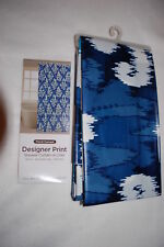 """Shower Curtain or Liner FLORAL DAMASK ABSTRACT White Blues 70"""" W X 72"""" L"""