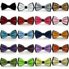 Men's Fashion Tuxedo Satin Bowtie Solid Color Adjustable Wedding Bow Tie