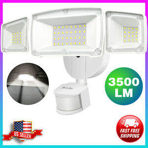 Motion Sensor Lights Outdoor 35W Ultra Bright 3500LM LED Security Flood Lights