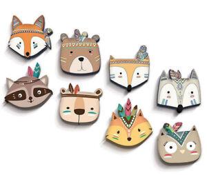 Cute Cartoon Animal Hanging Art Ornament Bedroom Kids Room Wooden Wall Decor