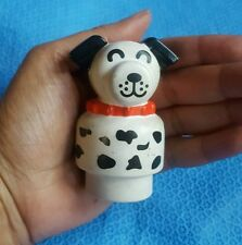 Mattel Toy White Black Spots Puppy Dog • PRE-OWNED • Very cute