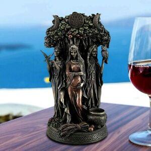 Greek Triple Goddess Celtic Dandu Statue Figurine Tabletop Home Office Decor Art